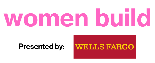 Pink women build logo presented by Wells Fargo