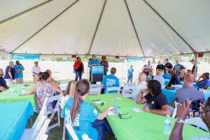 Sep 29, 2019; Castle Hayne, NC, USA; 2019 Builders Blitz Opening Ceremony. Mandatory Credit: Caylor Arnold
